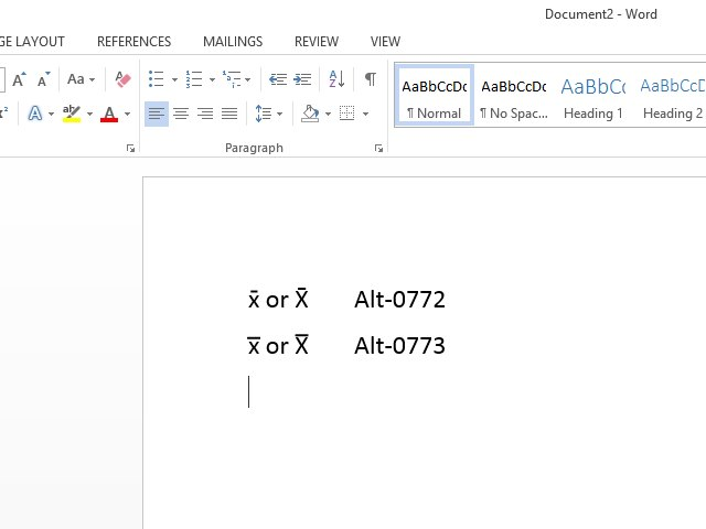 How To Make An X Bar Symbol In Word Techwalla
