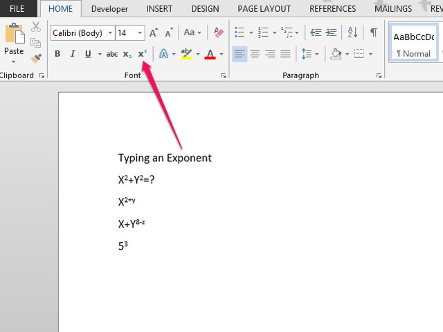 How To Type Exponents In A Word Document Techwalla