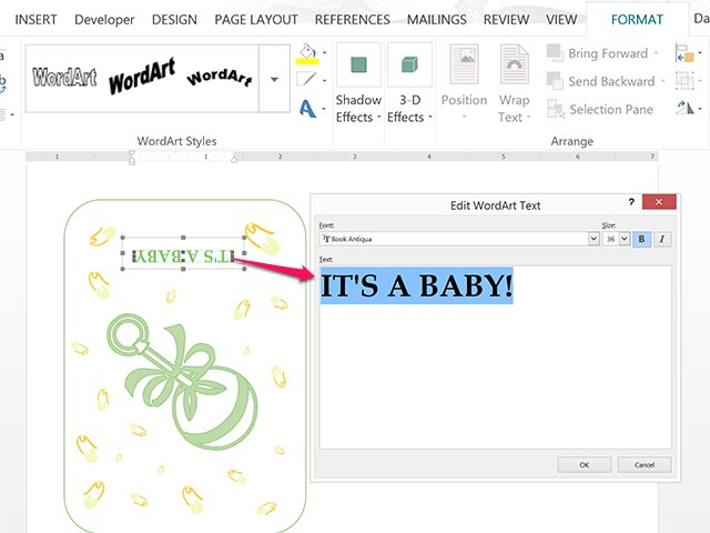word template baby shower