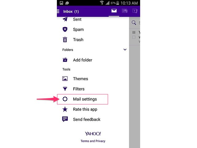 How to check my yahoo mail inbox techwalla yahoo mail app android 50 stopboris Images
