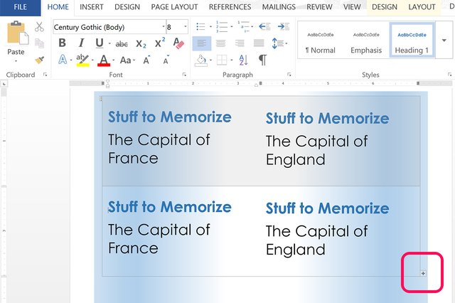 How to Create Index Cards in Word | Techwalla.com
