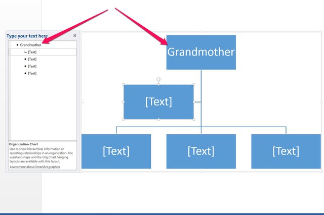 How do i create a tree diagram in word techwalla enter text in the type your text here window ccuart Images