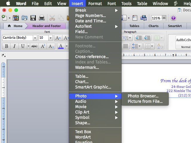 how to create a letterhead template in word 2013