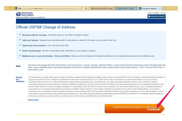 postal service change of address printable form - Mersn.proforum.co