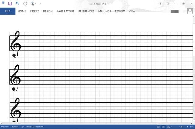 blank music staff paper