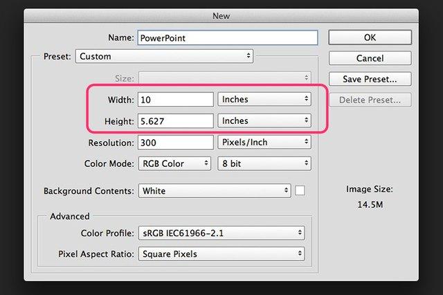 How do i create a powerpoint slide in photoshop techwalla creating a slide background toneelgroepblik Choice Image