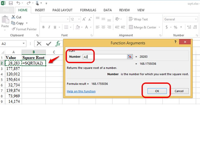 How To Insert A Square Root In Excel Techwalla