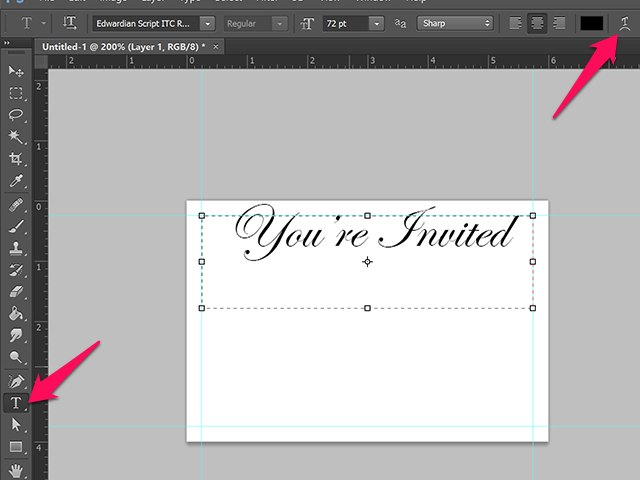 How do i make invitations in photoshop techwalla youre invited written on an invitation stopboris Choice Image