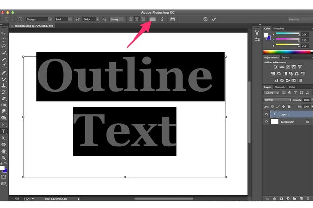How do i add an outline to text in photoshop techwalla set the color that will appear inside your text outline ccuart Choice Image