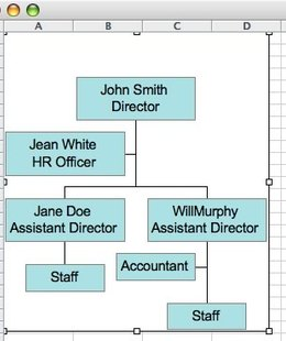 org chart excel