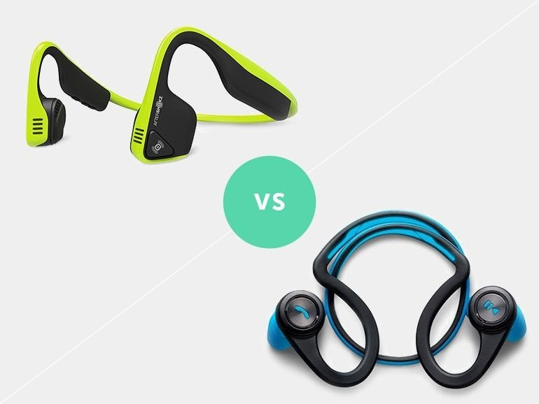 a Plantronics Backbeat Fit vs Aftershokz Trekz Titanium