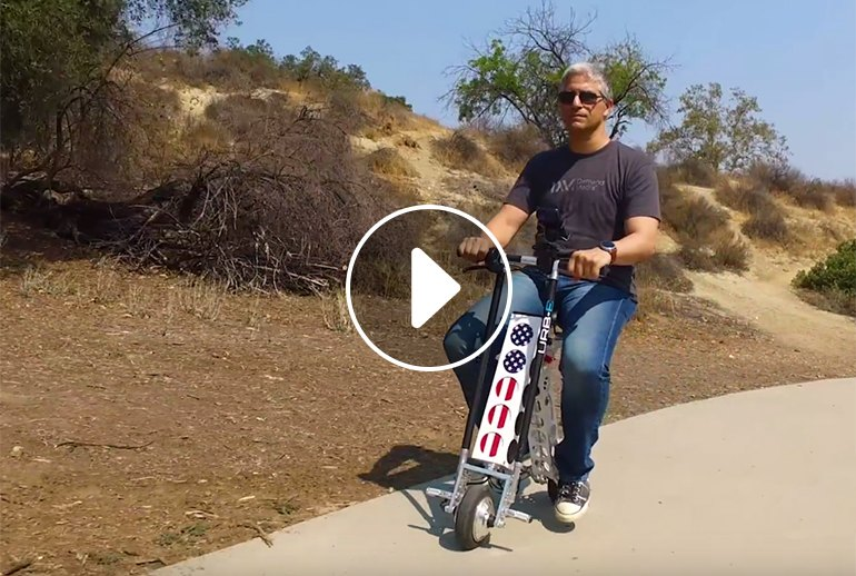 a We Ride (and Review) the URB-E Electric Scooter