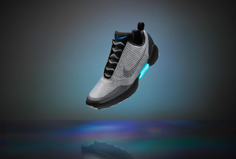 "a ""Back to the Future"" Self-Tying Shoes Are Here: Nike HyperAdapt vs. Puma Autodisc"