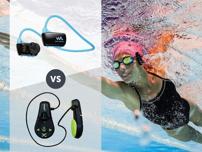 a Headphones for the Pool: Finis Duo vs Sony Waterproof Walkman